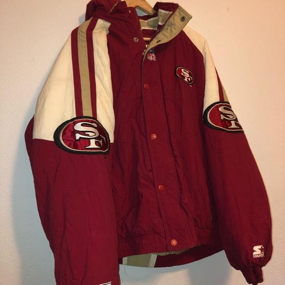 5f17b310 49ers starter winter puff jacket vintage size 2xl